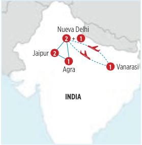 Gran circuito de 8 días por TRIANGULO DORADO Y GANGES salida en AUTOCAR desde NUEVA DELHI