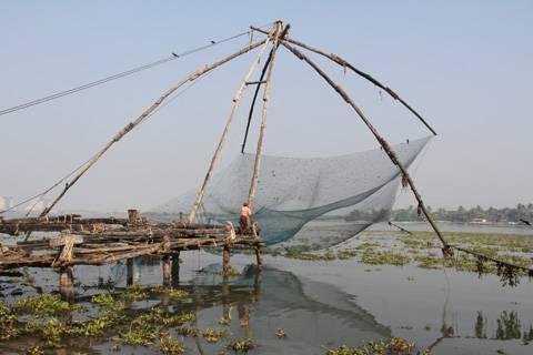 Pescadores en Cochin