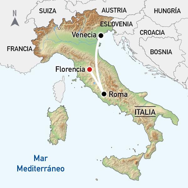 FLORENCIA ROMA Y VENECIA DIRECTO DESDE ZARAGOZA