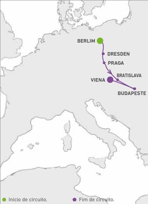 Circuito de 9 dias Berlim & Praga, Budapeste e Viena,saídas quintas de Maio a Outubro