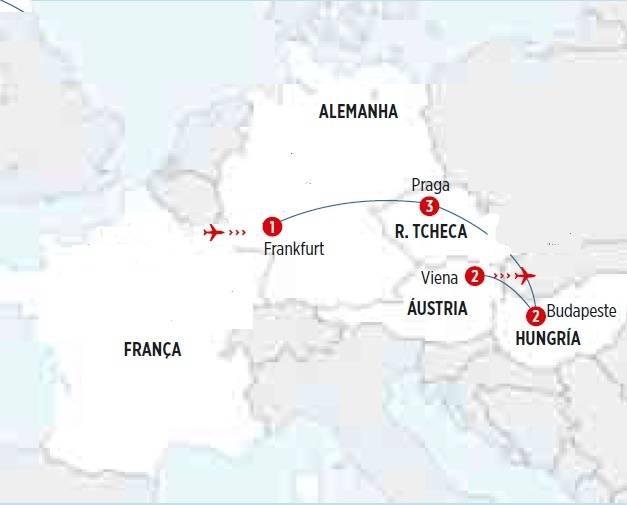 Circuito de 9 dias, Leste Europeu I, saída domingos todo o ano