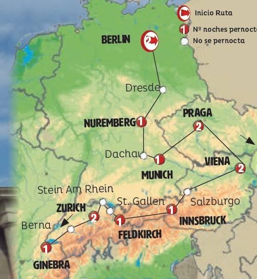 Roteiro 14 dias em ONIBUS Alemanha, Republica Checa, Áustria e Suíça inicio BERLIN QUINTAS