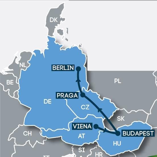 Circuito de Autocarro 11 dias, Viena- Budapest-Praga-Berlim, saídas quintas de Março a Outubro