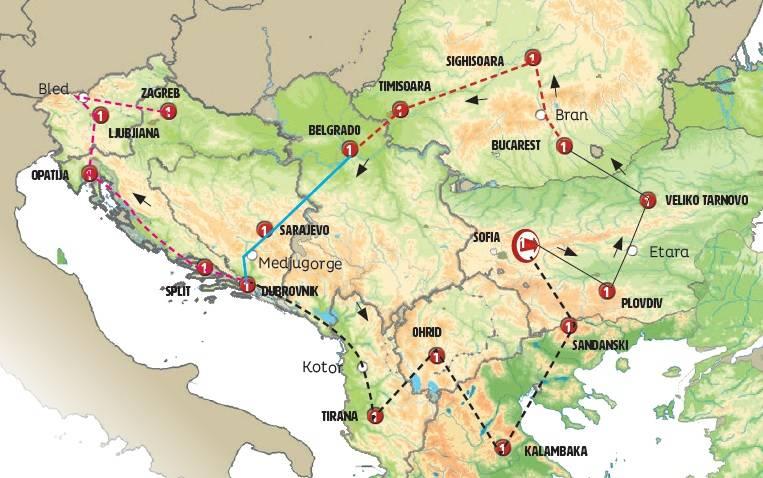 Circuito de 15 dias de ónibus Os Balcãs ao Completo, saídas ás quintas de Abril a Outubro