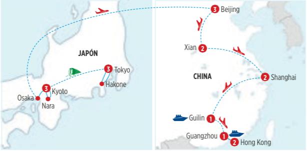 LO MEJOR DE CHINA Y JAPON, EN UN CIRCUITO GRANDIOSO, DE 18 DIAS 17 NOCHES, SALIDA MARTES Y JUEVES DESDE TOKYO