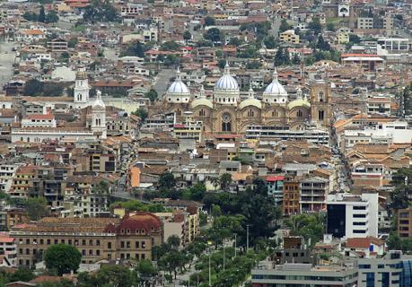Ciudad de Cuenca en Ecuador