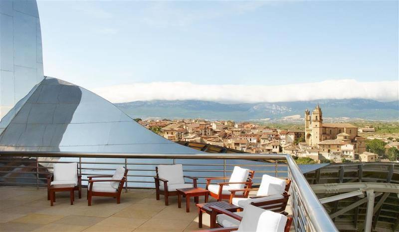 Bonitas vistas desde el hotel Marques de Riscal