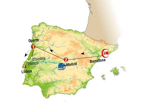 Barcelona, Madrid y Portugal