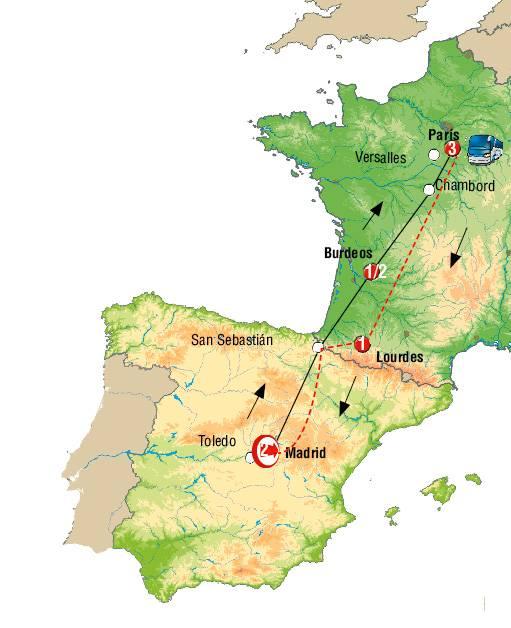 Madrid y París Fin París