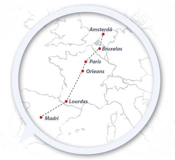 Circuito de 11 dias FRANÇA e PAÍSES BAIXOS de Madri - Amsterdã,saídas sábados todo o ano