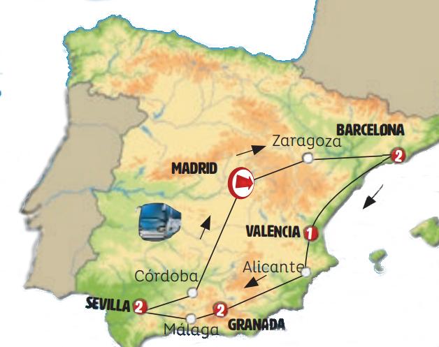 Cataluña, Levante y Andalucía