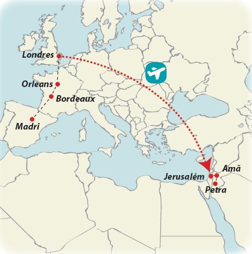 Circuito de 15 dias De Madri a Londres com mini Israel e Jordânia, saídas ás quartas