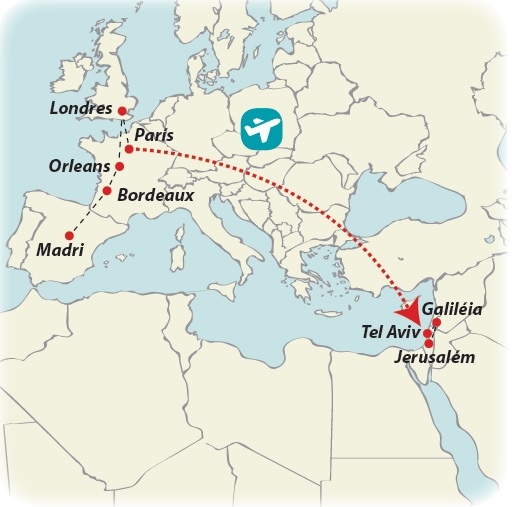 Circuito de 19 dias Europa Atlântica e Terra Santa, saídas ás quartas todo o ano