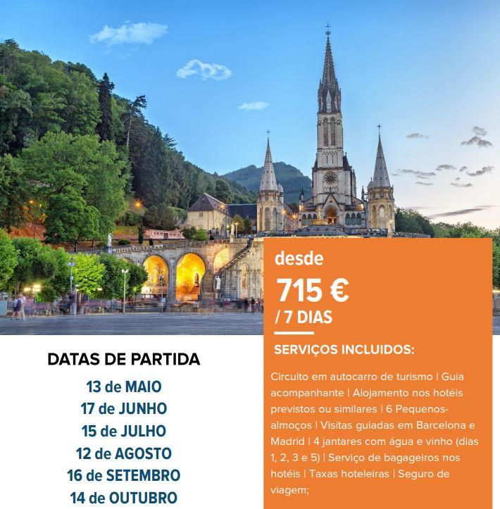 Lourdes, Andorra e Barcelona