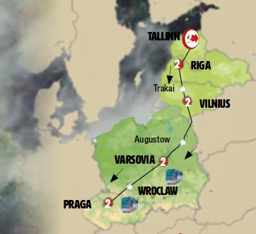 Países Bálticos, Polonia y Chequia