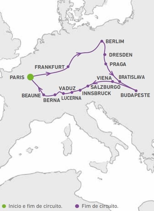 Circuito de 16 dias, Belle Europe, saidas domingos de Maio a Outubro