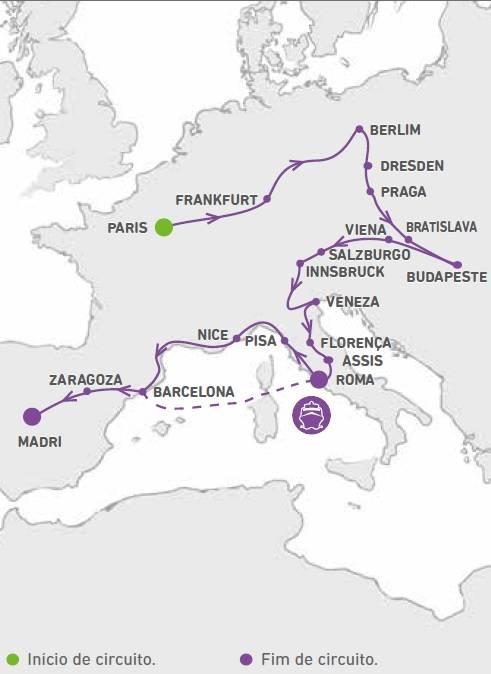 Circuito de 23 dias, Europa MagnIfica, saIdas Domingos de Maio a Outubro