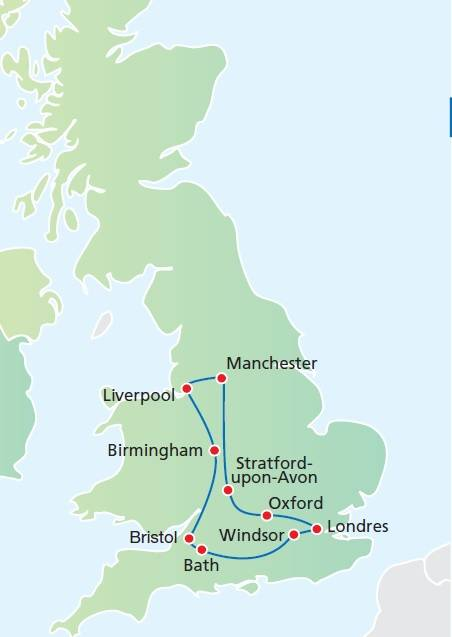 Circuito 8 dias, o Melhor da Inglaterra, saídas segundas de Junho e Setembro