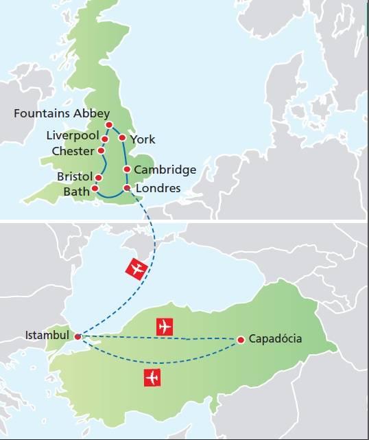 Circuito de 15 dias, Inglaterra e Gales com Istambul e Capadócia, Saídas em Junho e Agosto