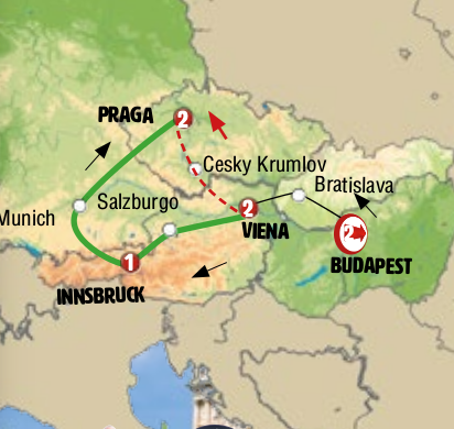 BUDAPEST, VIENA e PRAGA