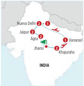 Gran circuito de 11 dias por la INDIA, FUERTES Y TEMPLOS desde NUEVA DELHI en AUTOCAR