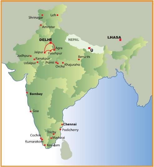 Circuito de 11 dias,Délhi, Agra, Jaipur + Dubai, saídas segundas todo o ano