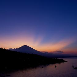 Monte Agung en Amed