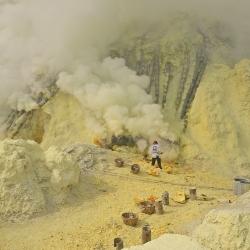 Mina de azufre, Crater del Ijen