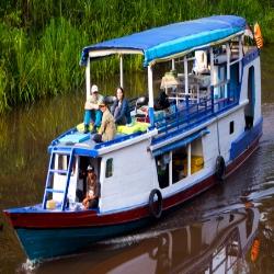 Klotok en el Rio Sekonyer