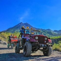 Jeep, Volcán Merapi