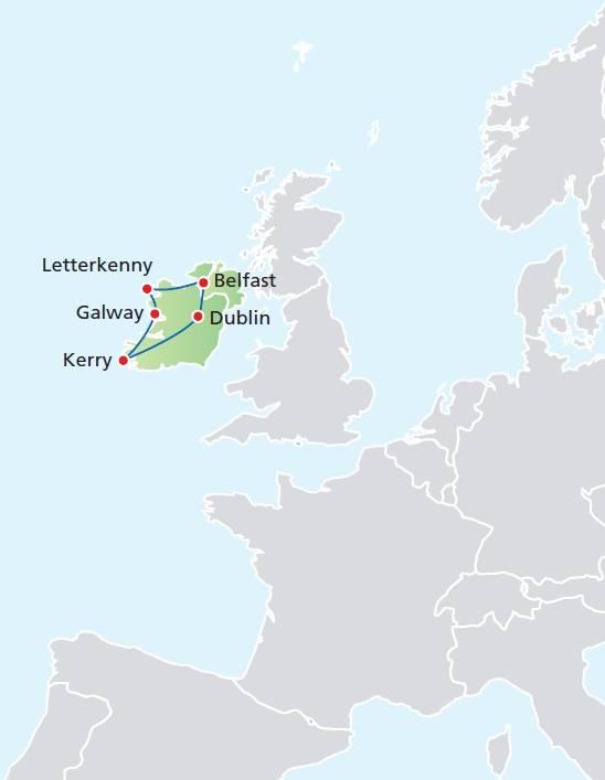 Circuito 8 dias, Paisagens da Irlanda, saídas aos domingos de Junho a Setembro