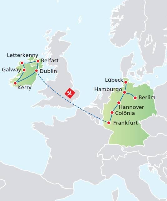 Circuito de 16 dias, Paisagens da Irlanda com Alemanha, saídas de Junho a Setembro