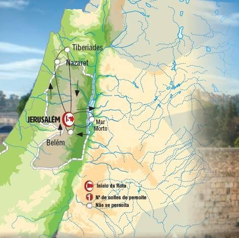 Circuito de 6 dias de Autocarro,Israel Express,saídas terças o ano todo