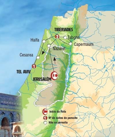 Circuito de 7 dias de autocarro Israel Sonhada ,saídas quintas o ano todo
