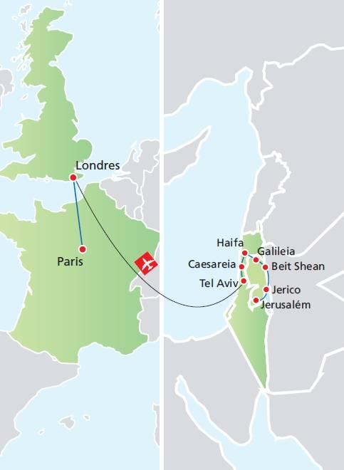 Circuito de 14 dias TERRA SANTA + LONDRES E PARIS, saídas segundas todo o ano