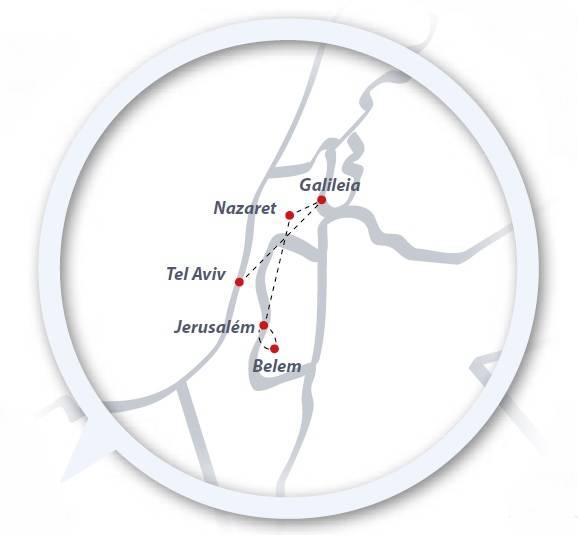 Tour de 6 dias de ónibus Tel Aviv-Jerusalém, saídas terças todo o ano