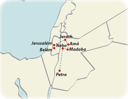 Circuito de 8 dias Mini Israel e Jordânia, saídas ás quartas todo o ano