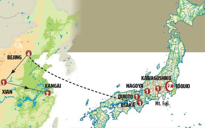 Circuito de 14 dias de ónibus Japão Essencial e China, saídas sábados todo o ano