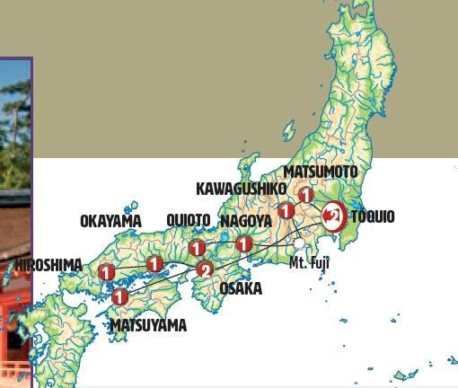 Circuito de 12 dias de ónibus Japão Completo, saídas sábados todo o ano