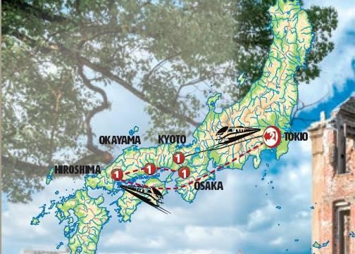 Circuito de 7 dias Tóquio, Quioto e Hiroshima, saídas segundas todo o ano