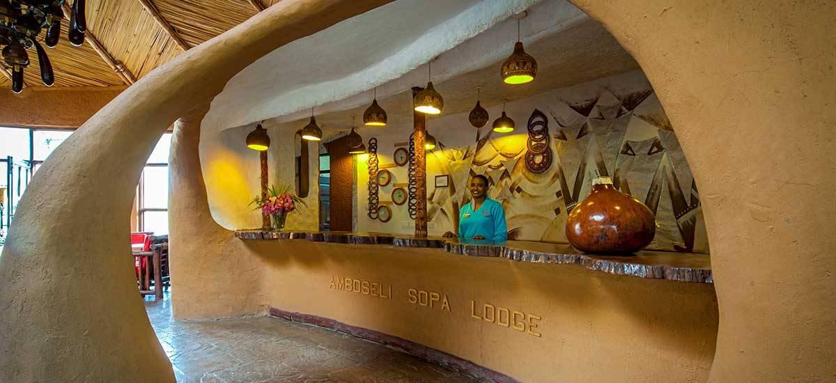 Amboseli Sopa Lodge, recepción