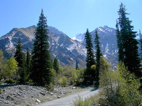 Paisaje de Kirguistán