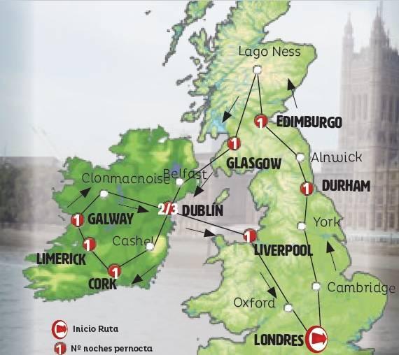 Roteiro de 9 dias Inglaterra Escocia e Irlanda Completo inicio aos DOMINGOS de LONDRES