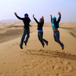 Disfrutando en el Sahara