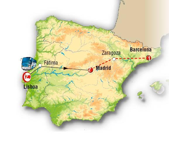 Lisboa y Madrid