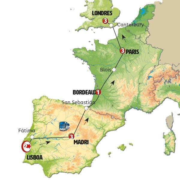Lisboa, Madri, Paris e Londres Econômica