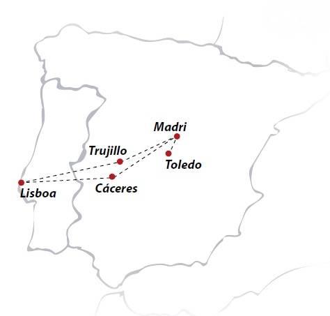 Circuito de 5 dias de ónibus MADRI, saídas aos sábados todo o ano de Lisboa