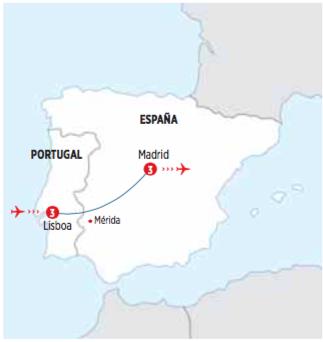Circuito de 8 dias LISBOA Y MADRID recorrido en AUTOCAR salida los dias MIERCOLES