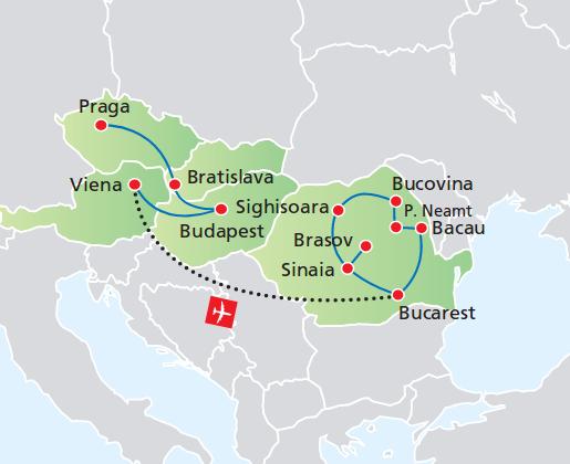 PRAGA, BUDAPEST Y VIENA + RUMANÍA