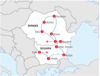 Tour de 12 dias LO MEJOR DE RUMANIA Y BULGARIA